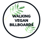Adventures of a Walking Vegan Billboard